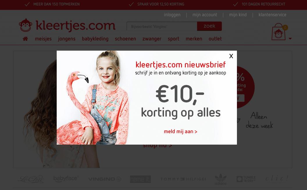 Screenshot kleertjes