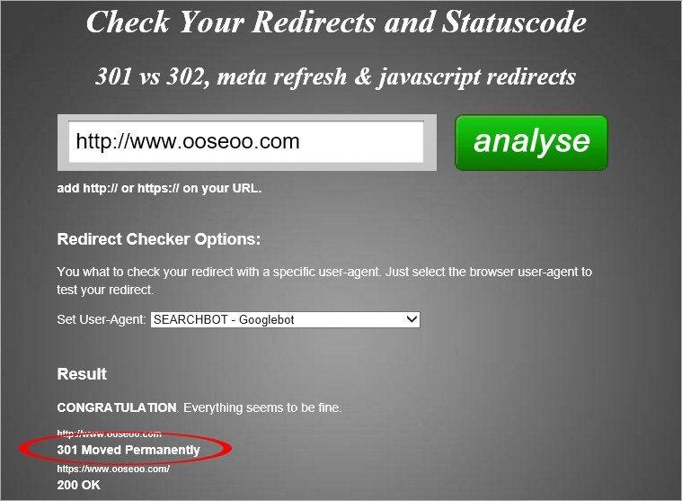 Redirect 301 checker